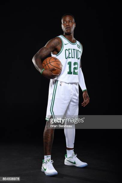 Terry Rozier of the Boston Celtics poses for a portrait during the 201718 NBA Media Day on September 25 2017 at the TD Garden in Boston Massachusetts...