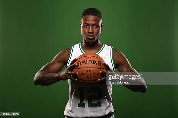 Terry Rozier of the Boston Celtics poses for media day on September 25 2015 at the Boston Celtics Training Center in Waltham Massachusetts NOTE TO...