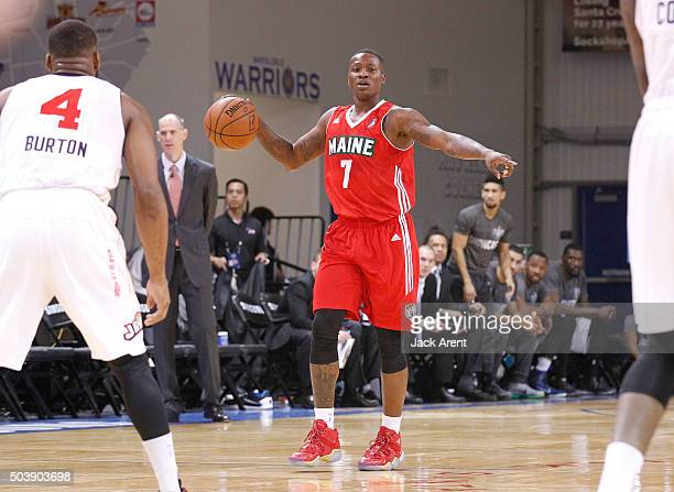 Terry Rozier of the Maine Red Claws dribbles the ball against the Bakersfield Jam during the 2016 NBA DLeague Showcase presented by SAMSUNG on...