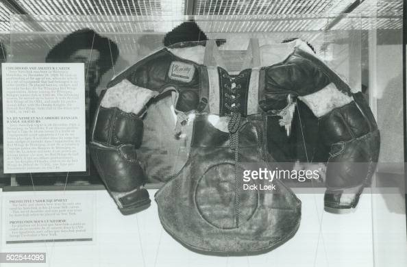 Terry Sawchuk's chest protector