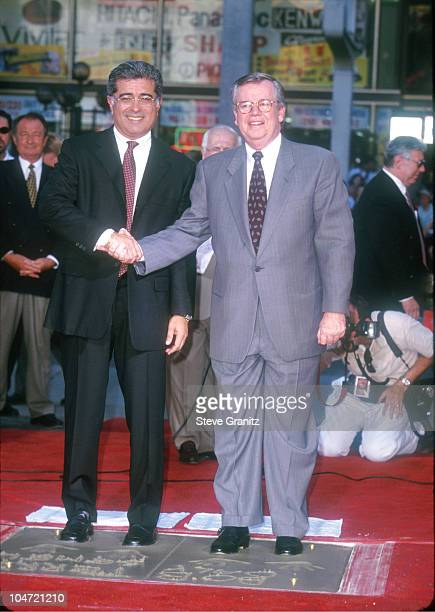 Terry Semel and Bob Daly during Robert Daly and Terry Semel Footprint Ceremony September 30 1999 at Mann's Chinese Theatre in Hollywood California...
