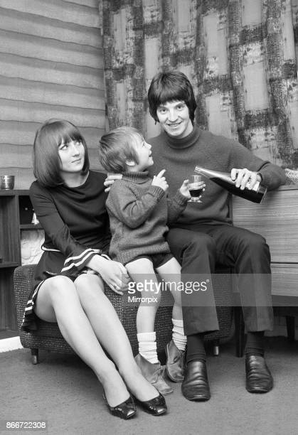 Terry Sylvester former lead singer with Merseyside band The Escorts and the Swinging Blue Jeans celebrates with his wife Lynda and their four year...