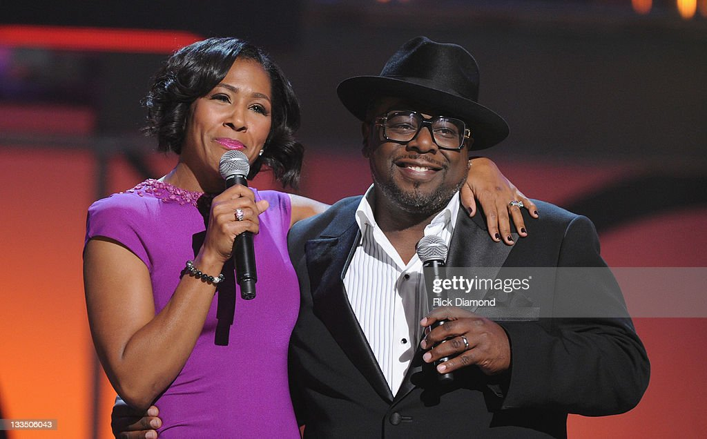 Terry Vaughn and <a gi-track='captionPersonalityLinkClicked' href=/galleries/search?phrase=Cedric+the+Entertainer&family=editorial&specificpeople=210583 ng-click='$event.stopPropagation()'>Cedric the Entertainer</a> during the 2011 Soul Train Awards at The Fox Theatre on November 17, 2011 in Atlanta, Georgia.
