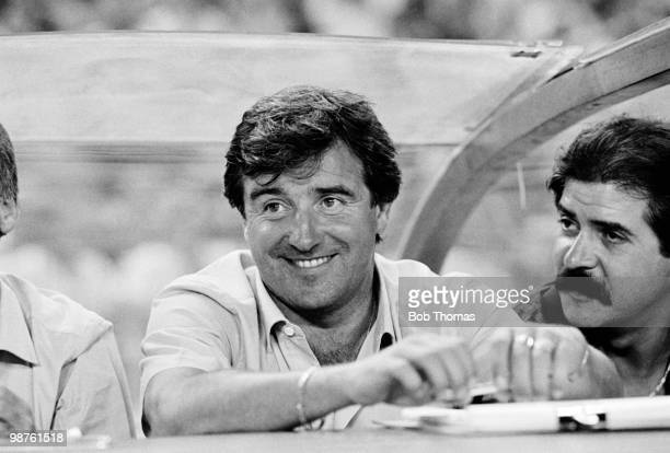 Terry Venables Barcelona manager during the Gamper Tournament held at the Nou Camp Stadium Barcelona on 20th August 1985