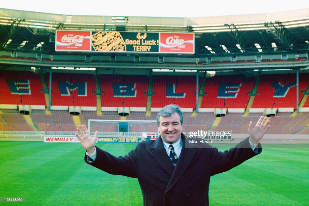 <a gi-track='captionPersonalityLinkClicked' href=/galleries/search?phrase=Terry+Venables&family=editorial&specificpeople=240288 ng-click='$event.stopPropagation()'>Terry Venables</a> is unveiled as the new England manager at Wembley Stadium on January 28, 1994 in London, England.