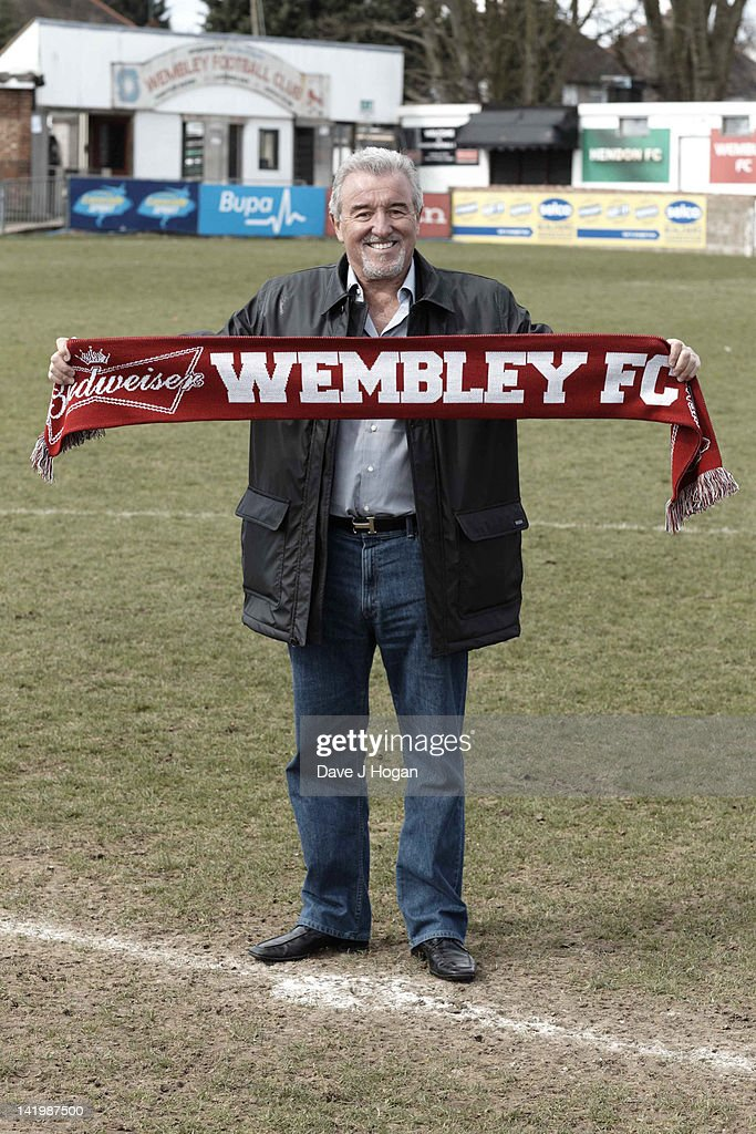<a gi-track='captionPersonalityLinkClicked' href=/galleries/search?phrase=Terry+Venables&family=editorial&specificpeople=240288 ng-click='$event.stopPropagation()'>Terry Venables</a> returns to UK football as coach of non-league Wembley FC to see how far he can take them in The FA Cup with Budweiser at Vale Farm on March 28, 2012 in London, England.