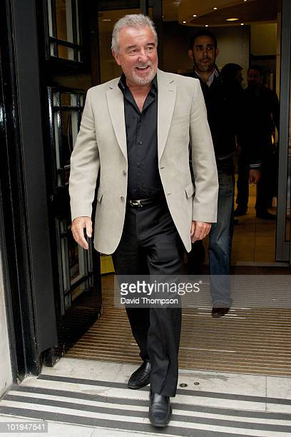 Terry Venables sighted leaving BBC Radio 2 studios on June 10 2010 in London England