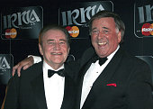 Terry Wogan and Larry Gogan during 2005 IRMA Honours Awards at Burlington Hotel in Dublin Ireland