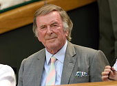 Terry Wogan attends the Grigor Dimitrov v Richard Gasquet match on day five of the annual Wimbledon Tennis Championships at Wimbledon on July 3 2015...