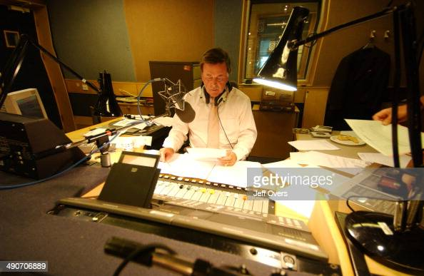 Terry Wogan in one of the Radio 2 studios Terry is presenting the breakfast show 2002