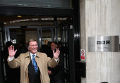 Terry Wogan is seen leaving BBC Radio 2 on his last day at his morning radio show 'Wake up with Wogan' on December 18 2009 in London England