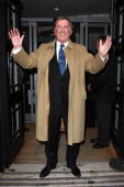Terry Wogan leaving Radio 2 offices on his last day of the breakfast show on December 18 2009 in London England