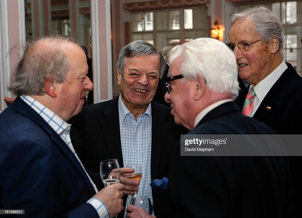 Terry Wogan, Ronnie Corbett and Richard Ingrams attends the Oldie of the Year Awards at Simpsons in the Strand on February 12, 2013 in London, England.