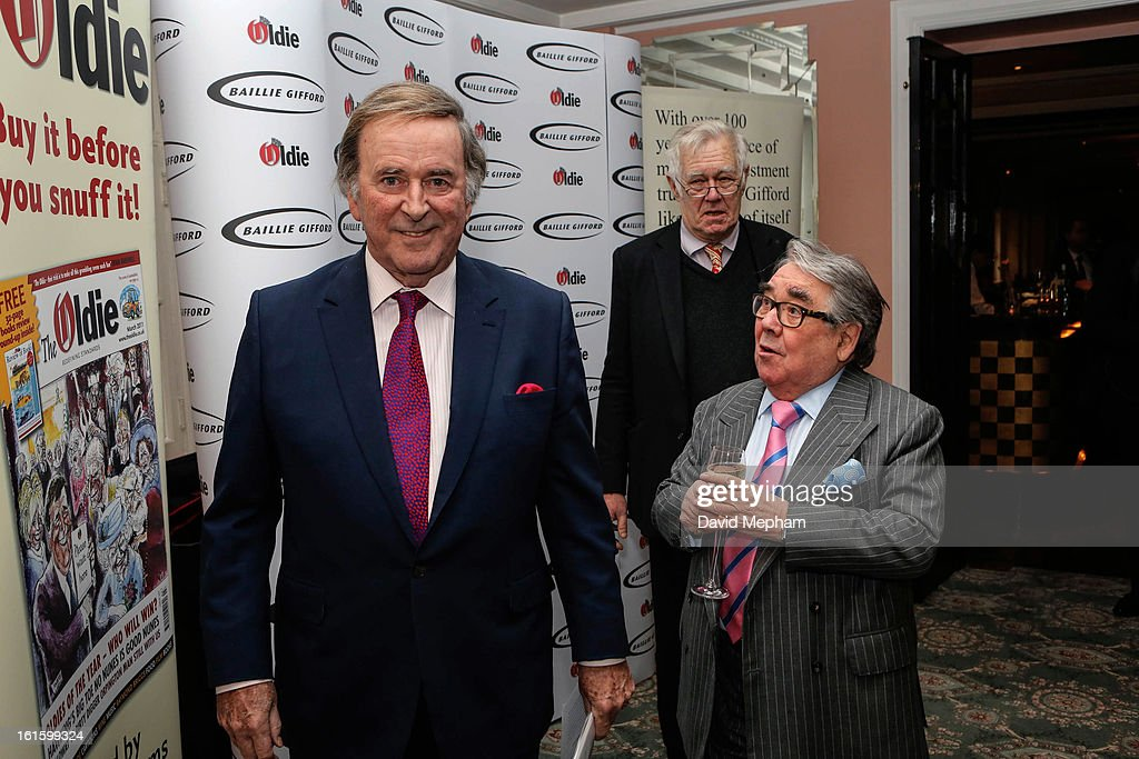 <a gi-track='captionPersonalityLinkClicked' href=/galleries/search?phrase=Terry+Wogan&family=editorial&specificpeople=234787 ng-click='$event.stopPropagation()'>Terry Wogan</a>, <a gi-track='captionPersonalityLinkClicked' href=/galleries/search?phrase=Ronnie+Corbett&family=editorial&specificpeople=160474 ng-click='$event.stopPropagation()'>Ronnie Corbett</a> and Richard Ingrams attends the Oldie of the Year Awards at Simpsons in the Strand on February 12, 2013 in London, England.