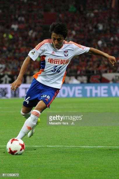 Teruki Hara of Albirex Niigata in action during the JLeague J1 match between Urawa Red Diamonds and Albirex Niigata at Saitama Stadium on July 9 2017...