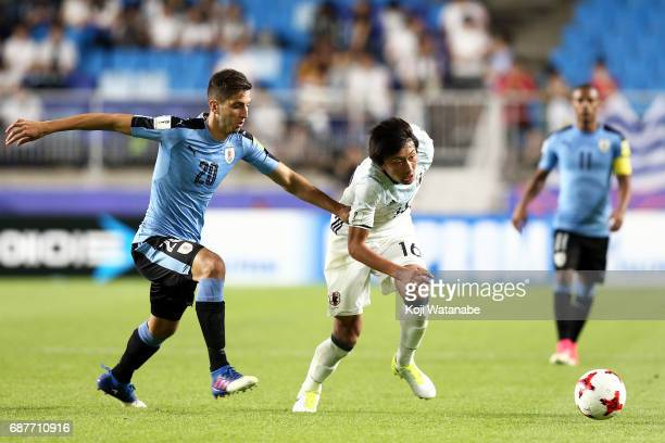 Teruki Hara of Japan in action during the FIFA U20 World Cup Korea Republic 2017 group D match between Uruguay and Japan at Suwon World Cup Stadium...