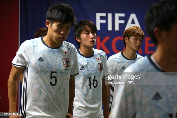 Teruki Hara of Japan looks on in the tunnel during the FIFA U20 World Cup Korea Republic 2017 Round of 16 match between Venezuela and Japan at...