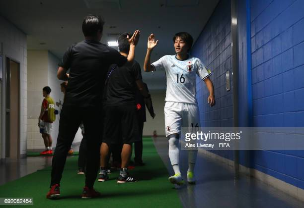 Teruki Hara of Japan walks out of the dressing room prior to the FIFA U20 World Cup Korea Republic 2017 Round of 16 match between Venezuela and Japan...