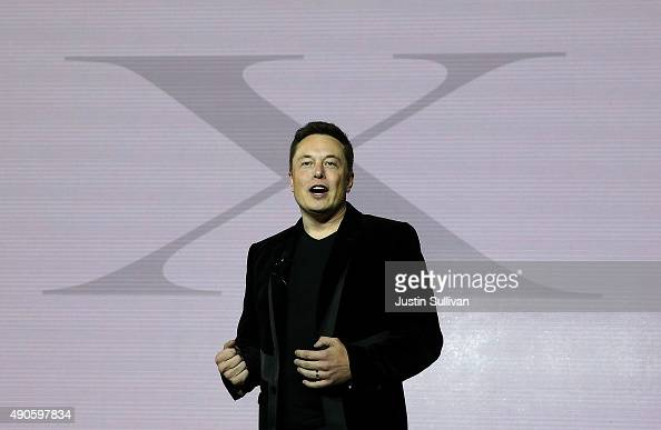 Tesla CEO Elon Musk speaks during an event to launch the new Tesla Model X Crossover SUV on September 29 2015 in Fremont California After several...