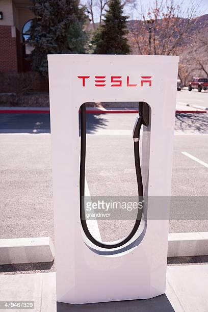 Tesla Electric Car Fuel Station