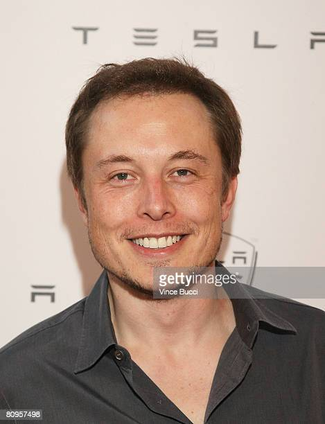 Tesla founder Elon Musk attends the launch party for the Tesla Roadster the world's first highwaycapable all electric car available in the United...