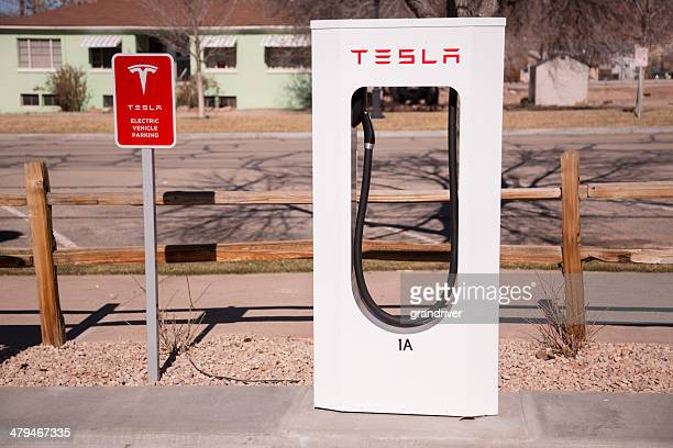 Tesla estación de combustible