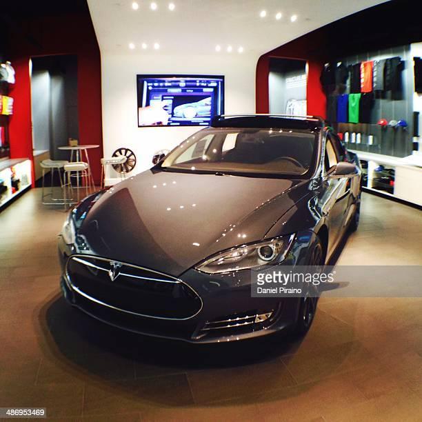 Tesla Model S inside of the Tesla Retail Store located inside of the Boca Raton Town Center MallBoca Raton Florida