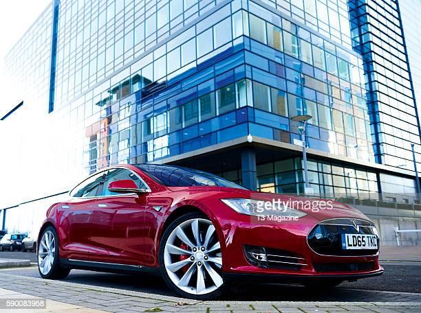A Tesla Model S P85D electric car taken on December 8 2015