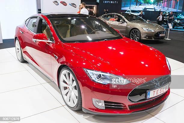 テスラ電気 P90D 全モデルの高級車