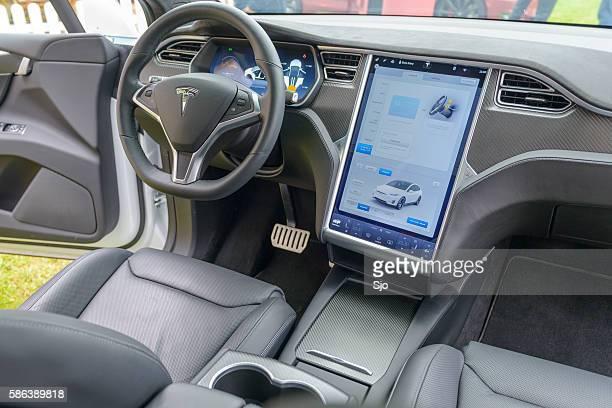 Tesla Model X all-electric crossover SUV interior