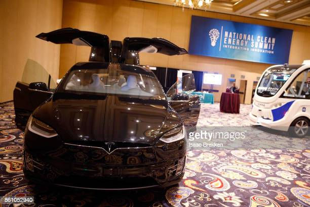 Tesla Model X is on display at the National Clean Energy Summit 90 on October 13 2017 in Las Vegas Nevada