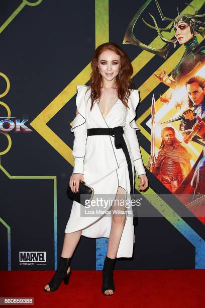 Tess Alexander arrives for the Australian Premiere of Thor Ragnarok on October 13 2017 in Gold Coast Australia
