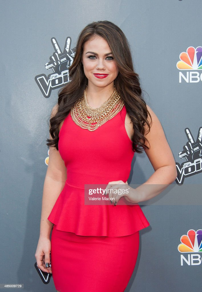Tess Boyer arrives at NBC's 'The Voice' Season 6 Top 12 Red Carpet Event at Universal CityWalk on April 15, 2014 in Universal City, California.