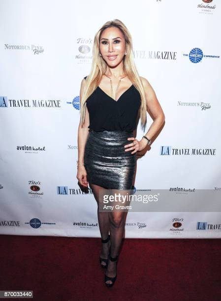 Tess Broussard attends the Los Angeles Travel Magazine Unveils Their 'FallHoliday Issue' event at The Avalon Hotel on November 3 2017 in Los Angeles...