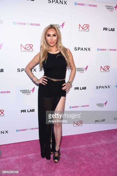 Tess Broussard attends the Susan G Komen LA presents 'Babes For Boobs' Live Bachelor Auction at El Rey Theatre on June 8 2017 in Los Angeles...