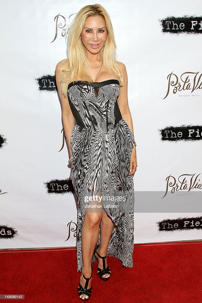 Tess Broussard attends the 'The Fields' World Premiere From Breaking Glass Productions Starring Cloris Leachman And Tara Reid at Laemmle's Music Hall Theatre on April 17, 2012 in Beverly Hills, California.