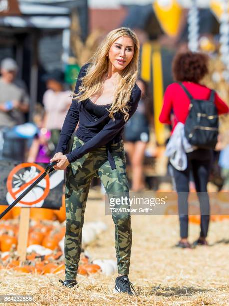 Tess Broussard is seen at the pumpkin patch on October 20 2017 in Los Angeles California