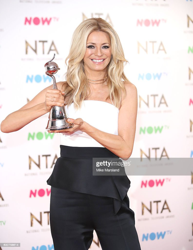 Tess Daily poses in the winners room at the National Television Awards at The O2 Arena on January 25, 2017 in London, England.