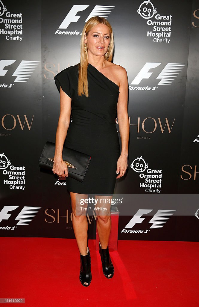 Tess Daley attends The F1 Party in aid of the Great Ormond Street Children's Hospital at Victoria and Albert Museum on July 2, 2014 in London, England.