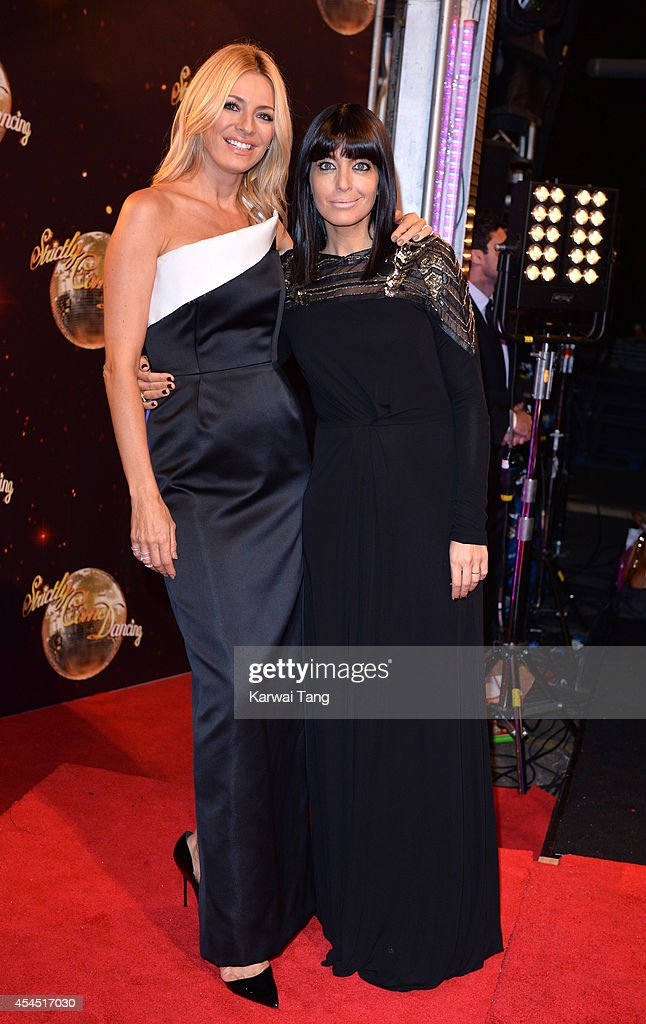 Tess Daly and Claudia Winkleman attend the red carpet launch for Strictly Come Dancing 2014 at Elstree Studios on September 2, 2014 in Borehamwood, England.