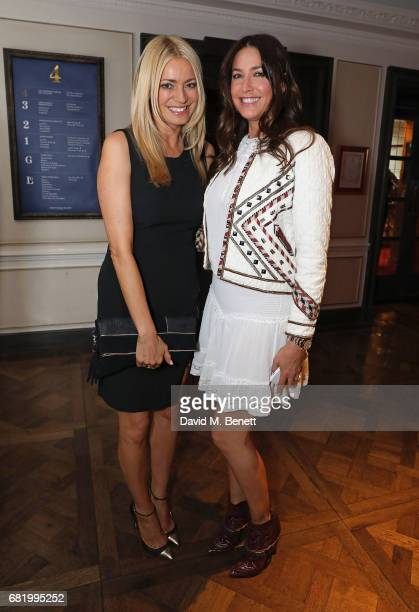 Tess Daly and Lisa Snowdon at the fifth annual Fortnum Mason Food and Drink Awards on May 11 2017 in London England
