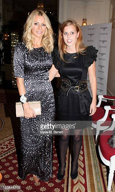 Tess Daly and Princess Beatrice of York attend Maggie's Autumn Party supported by Swarovski at the Mandarin Oriental Hyde Park on October 9 2012 in...
