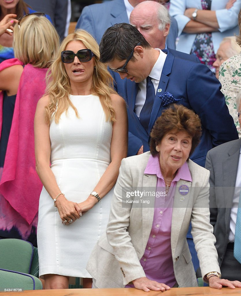 <a gi-track='captionPersonalityLinkClicked' href=/galleries/search?phrase=Tess+Daly&family=editorial&specificpeople=211541 ng-click='$event.stopPropagation()'>Tess Daly</a> and <a gi-track='captionPersonalityLinkClicked' href=/galleries/search?phrase=Vernon+Kay&family=editorial&specificpeople=211386 ng-click='$event.stopPropagation()'>Vernon Kay</a> attend day two of the Wimbledon Tennis Championships at Wimbledon on June 28, 2016 in London, England.
