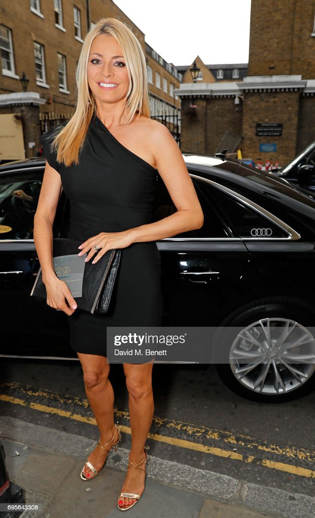 Tess Daly arrives in an Audi at the Summer Party 199 for The Old Vic on June 13, 2017 in London, England.