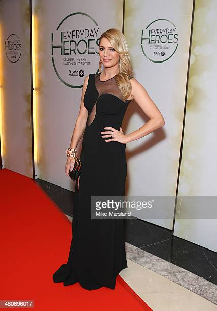 Tess Daly attends the starstudded St John Ambulance Everyday Heroes celebration of the nation's life savers at the Royal Lancaster Hotel on March 26...