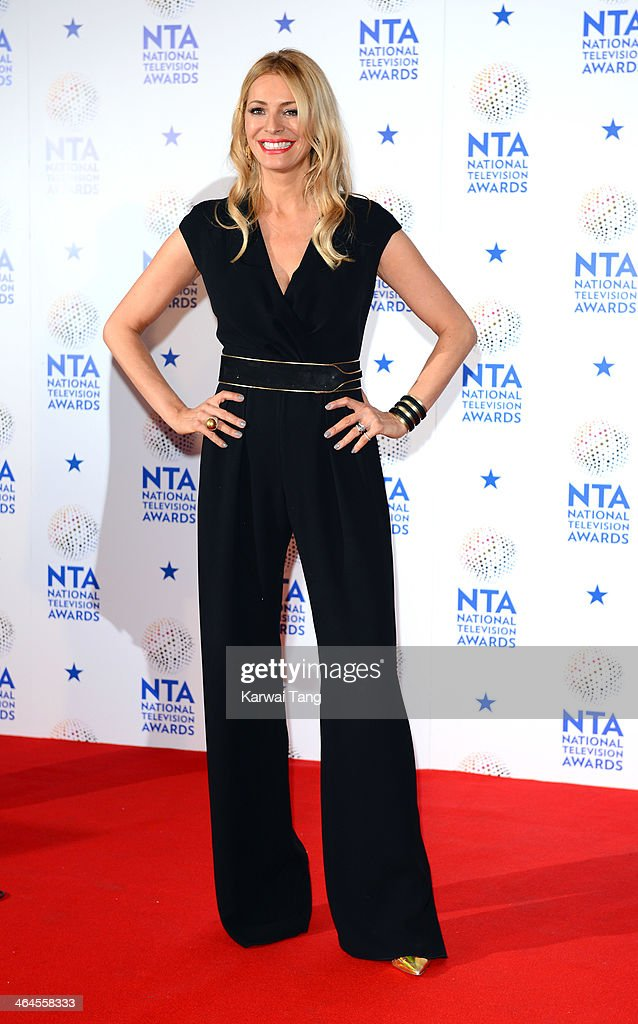 Tess Daly poses in the winners room at the National Television Awards at 02 Arena on January 22, 2014 in London, England.