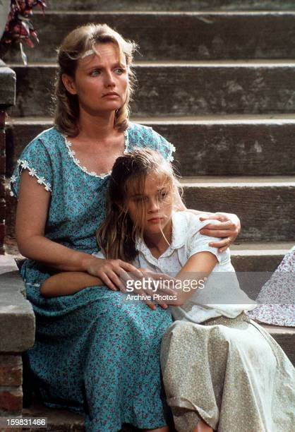 Tess Harper comforts Reese Witherspoon in a scene from the film 'The Man In The Moon' 1991