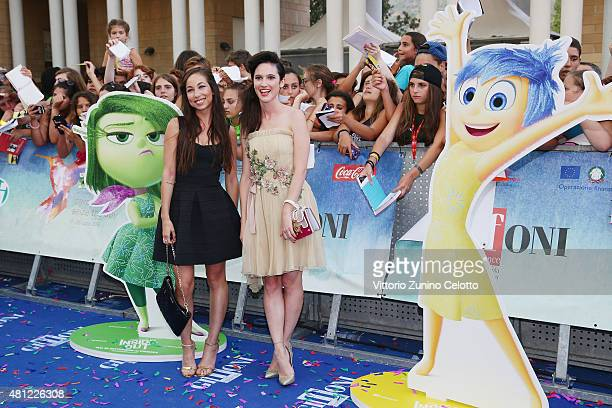 Tess Masazza and Lodovica Comello attend Giffoni Film Festival 2015 photocall on July 18 2015 in Giffoni Valle Piana Italy