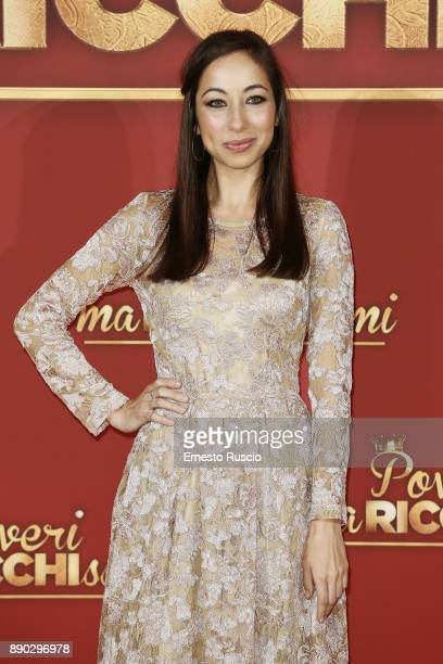 Tess Masazza attends 'Poveri Ma Ricchissimi' photocall on December 11 2017 in Rome Italy