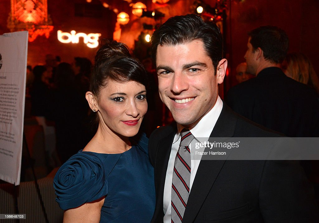 Tess Sanchez and actor <a gi-track='captionPersonalityLinkClicked' href=/galleries/search?phrase=Max+Greenfield&family=editorial&specificpeople=599135 ng-click='$event.stopPropagation()'>Max Greenfield</a> attend Variety's 3rd annual Power of Comedy event presented by Bing benefiting the Noreen Fraser Foundation held at Avalon on November 17, 2012 in Hollywood, California.